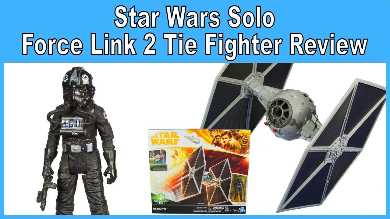 Star Wars Force Link 2.0 Tie Fighter Vehicle /& Pilot Figure