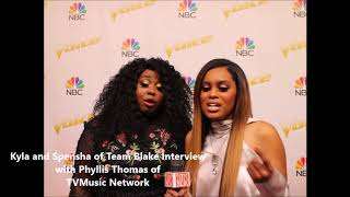 The Voice 14- Top 4 Finale Interviews - Kyla and Spensha of Team Blake