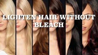 Lighten Hair Without Bleach - Less Hair Damage