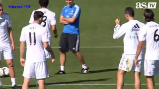 Cristiano Ronaldo Slide Tackles Bale in Real Madrid Training, Then He Nutmegs The Portuguese