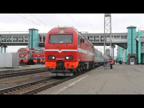 Отправление первого поезда №148 Омск-Новосибирск.