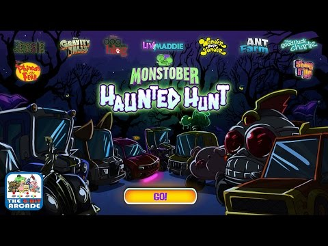 Monstober Haunted Hunt - Race Around Spooky Tracks Collecting Flags (Disney Channel Games)