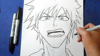 Como dibujar a Ichigo - Kurosaki | How to draw Ichigo