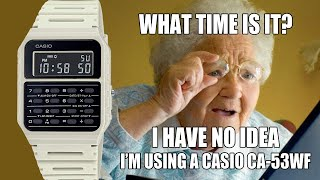 Casio CA-53WF - Can you tell the time on Casio's new version of its classic calculator watch?