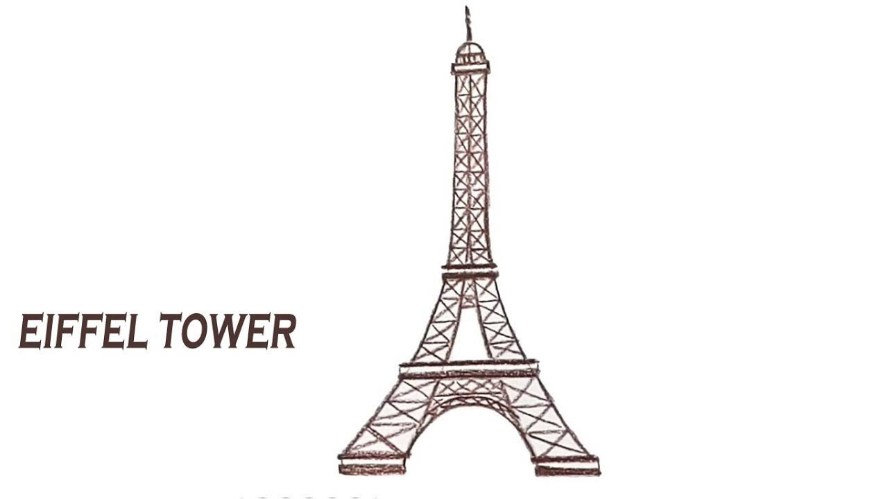 How to draw eiffel tower step by step youtube how to draw eiffel tower step by step thecheapjerseys Gallery