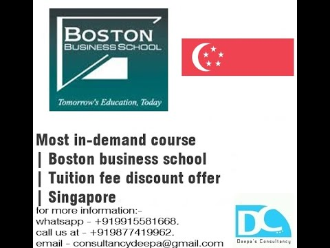 Most in-demand course   Boston business school   Tuition fee discount offer   Singapore