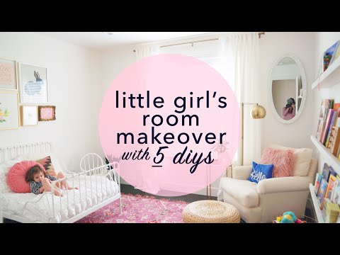 Little Girl's Room Makeover with 5 DIYs