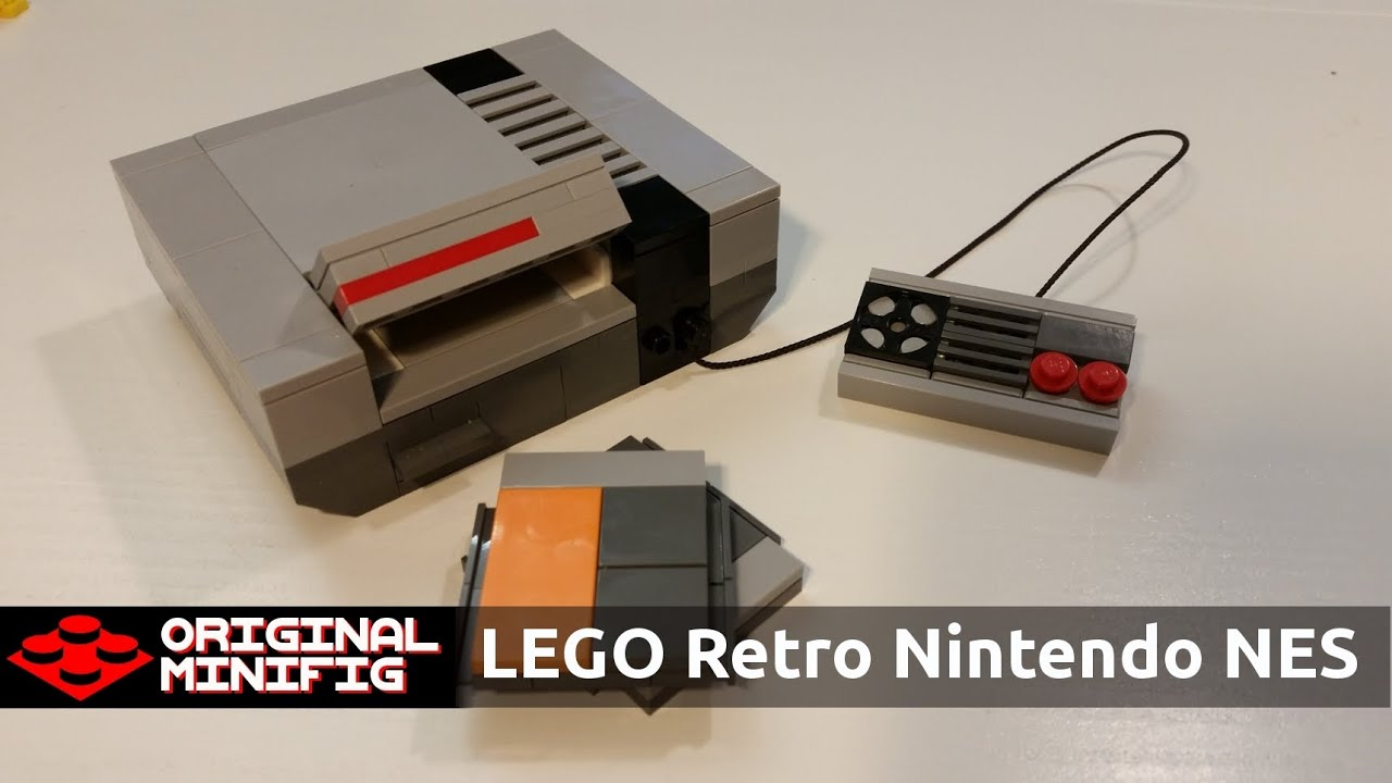 Lego retro nintendo game console nes youtube for Consolle lago