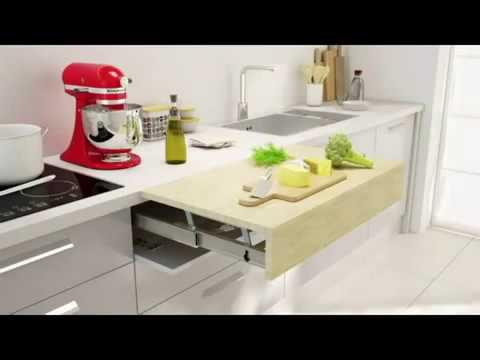 Mesa cajon cocina extraible copla youtube for Mesas de cocina extensibles con cajon