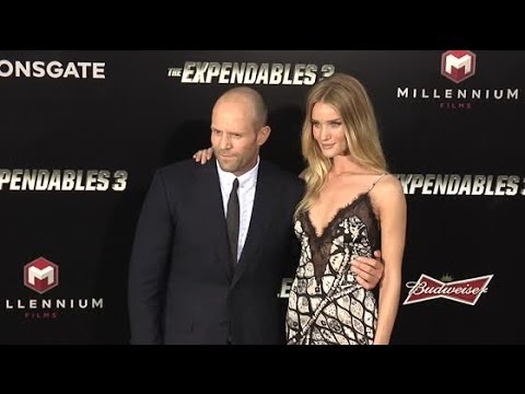 Jason Statham And Rosie Huntington-Whiteley Steal The Show At The Expendables 3 Premiere