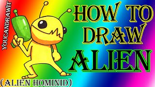 How To Draw Alien from Alien Hominid ✎ YouCanDrawIt ツ 1080p HD