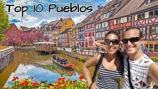 🔴top 15 Pueblos Más Bonitos De Francia: Colmar, Mont Saint Michel, Carcasona, Rocamadour...