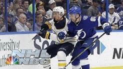 Nikita Kucherov hits 100 points in Bolts' Win vs. Buffalo Sabres | NHL | NBC Sports