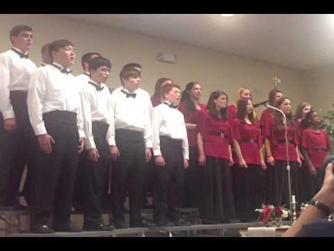 """2012 Leesburg Christian School choir """" Il est bel et bon"""""""