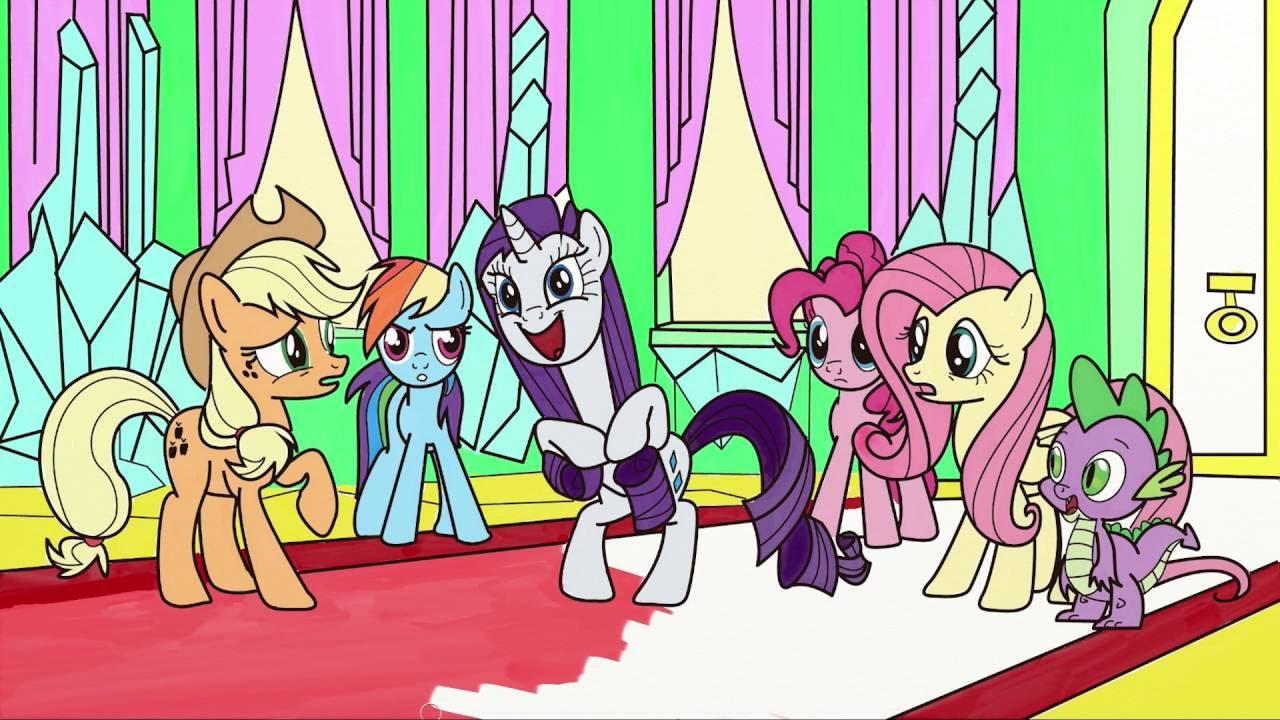 My Little Pony çizgi Film Karakter Boyama 1 Minik Eller Boyama
