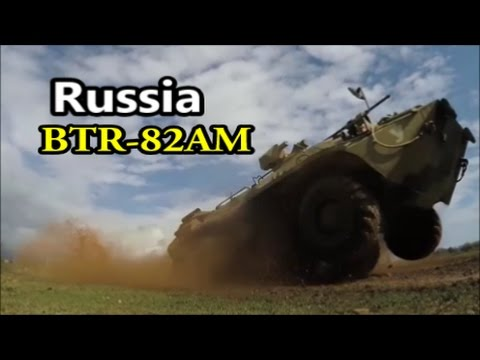 New BTR-82AM Amphibious Armoured Personnel Carrier (APC), Russia.