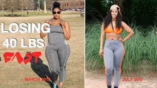 HOW I LOST 40 LBS IN 4 MONTHS | FITNESS | CHINACANDYCOUTURE