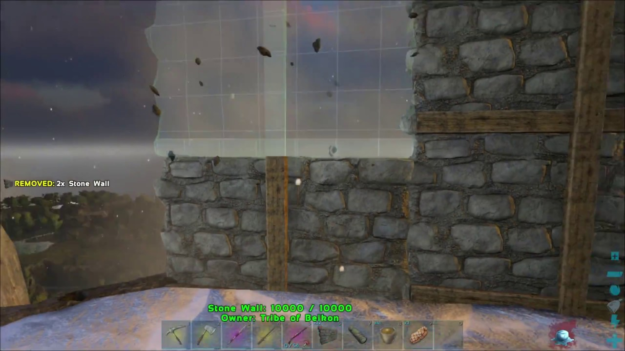 Tips On Placing Walls On Fence Foundations Ark Ragnarok Youtube