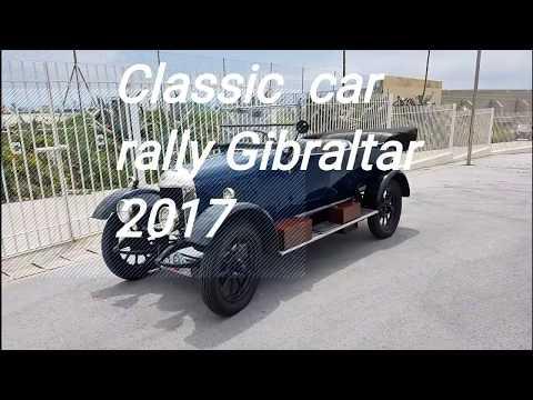 Classic car rally Gibraltar 2017