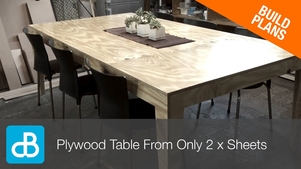 How to Build a Table from ly 2 Sheets of Plywood by SoundBlab
