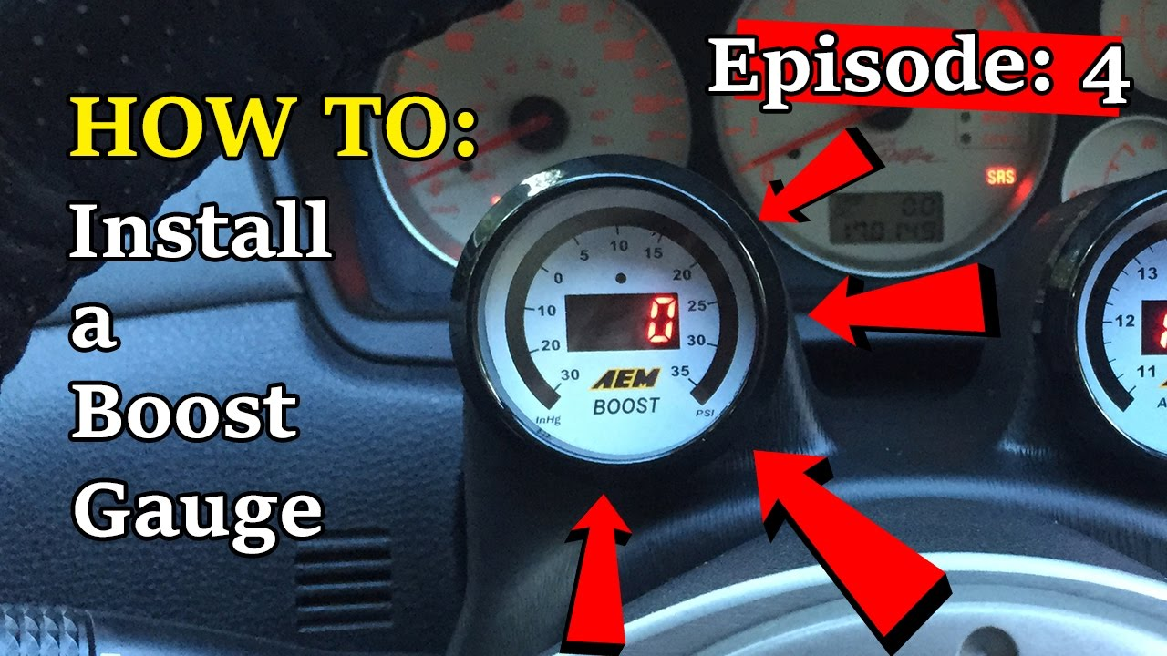 How to Install a Boost Gauge Evo 7/8/9 Aem Boost Gauge Wiring Diagram on