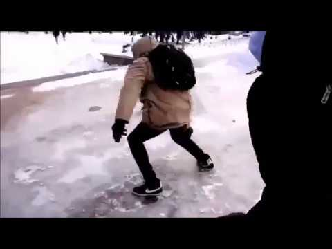 People Falling on ice Compilation  Best Funny Winter Fails
