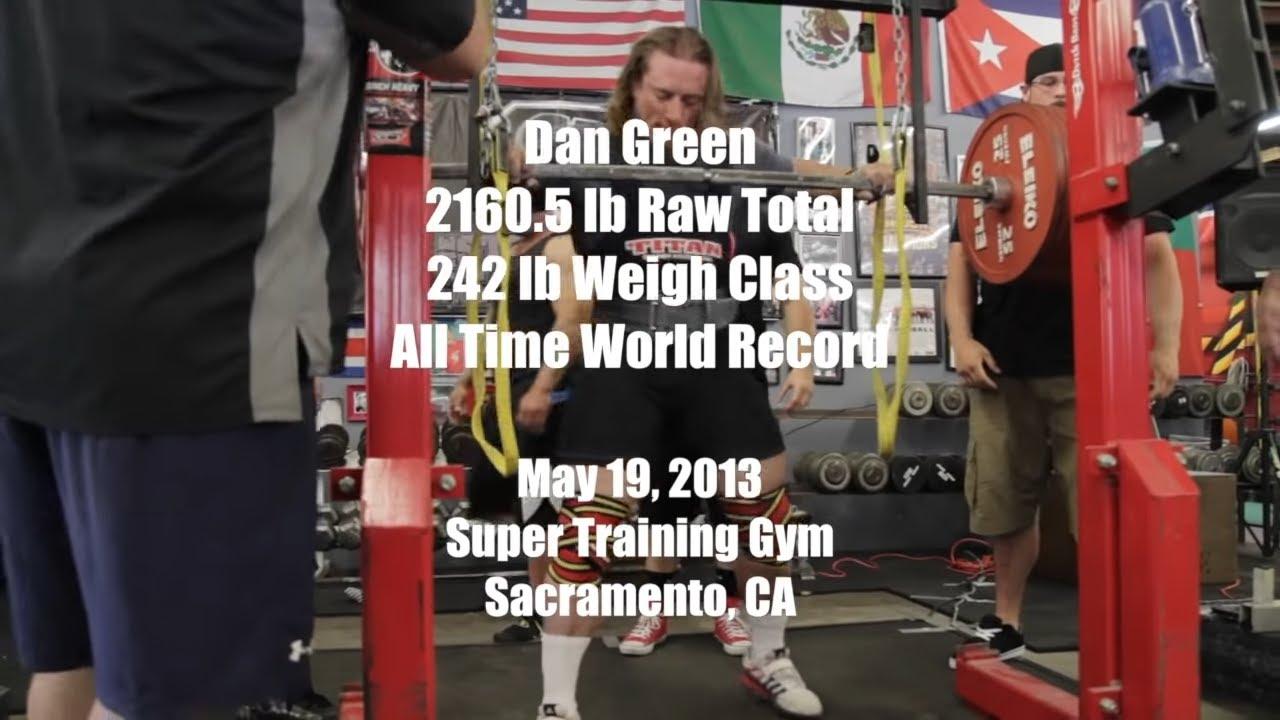 Dan Green 2160 Lbs World Record Raw Total