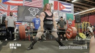 Dan Green 2,160 lbs World Record Raw Total | Official Video | SuperTraining.TV