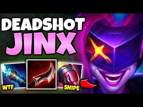 FULL SNIPER JINX MID CAN DELETE YOU FROM ACROSS THE MAP! (DODGE R OR DIE) - League Of Legends