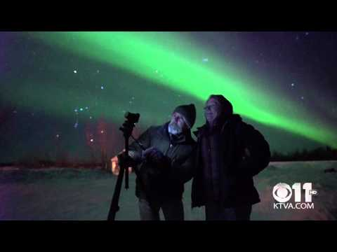 Tourists Photographing the Northern Lights in Bettles, Alaska (4K Video)