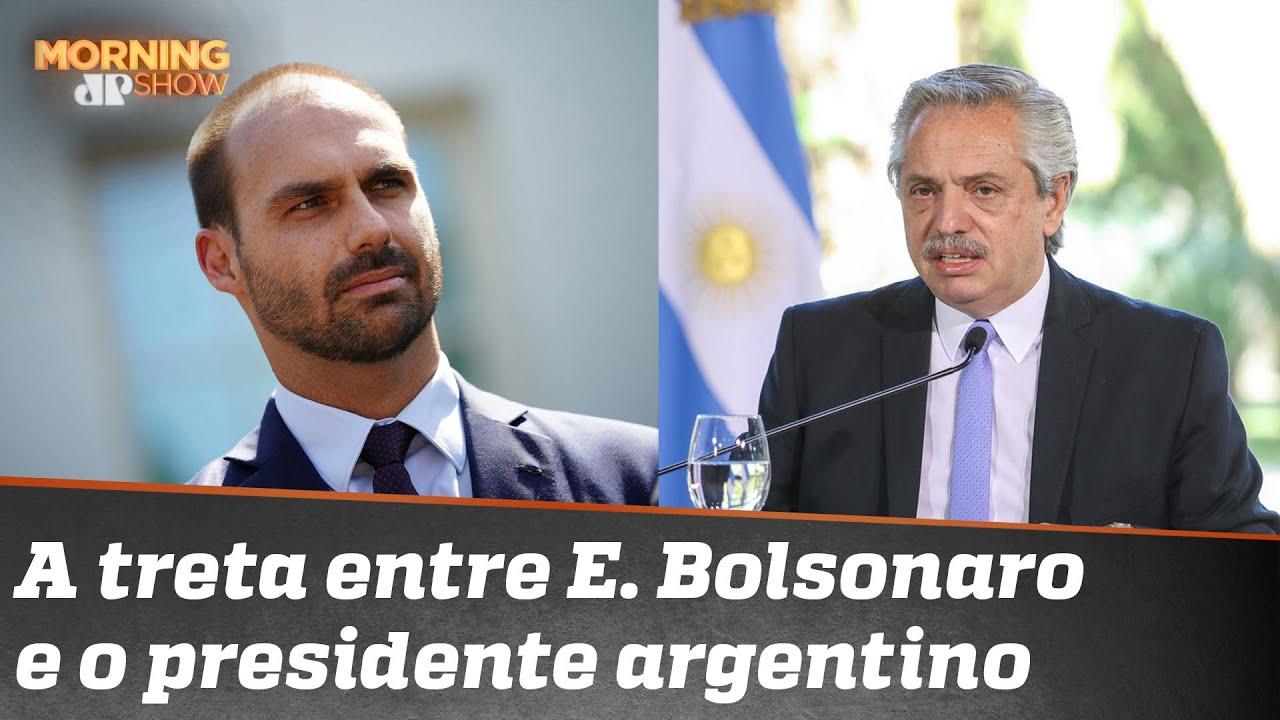 Eduardo Bolsonaro x Presidente argentino