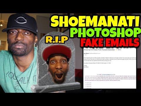 Exposing Shoemanati Fake Photoshop Emails & Clout Chasing RIP!!!