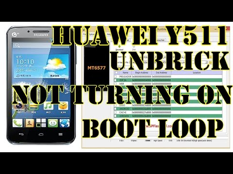 FIx Huawei y511-u10 Not turning on, Boot loop and stuck on boot logo