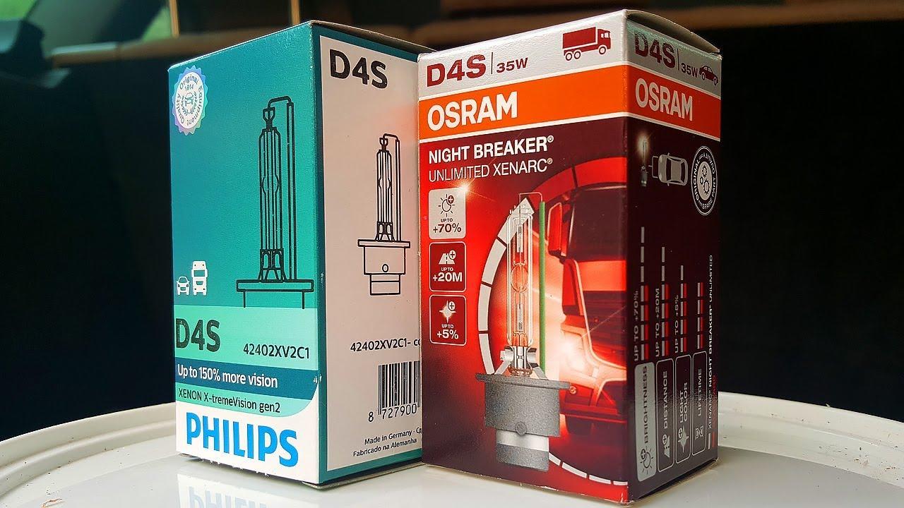 Ксеноновые лампы MTF Light под цоколь D4S 5000k - YouTube