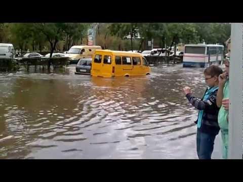 Потоп в Оренбурге Чкалова-Гагарина 24.07.2012