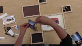 DNP DIY Wood Frame Photo Frame Video