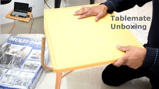 Unoboxing Of MULTI-TABLE Table Mate | Foldable Table Mate With Cup Holder