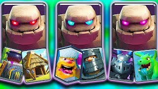 3 TOP GOLEM DECKS - Which Trophy Pushes BEST in Clash Royale Ladder!?