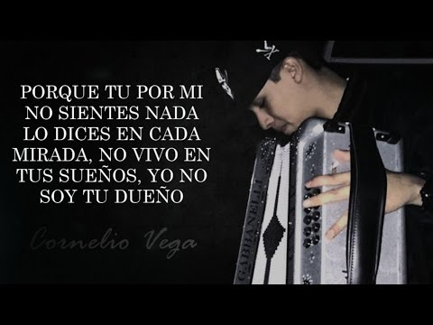 (LETRA) ¨SIN TI¨ - Cornelio Vega Jr (Lyric Video)