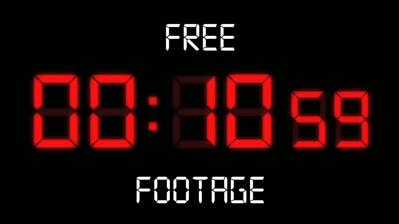 free led countdown clock