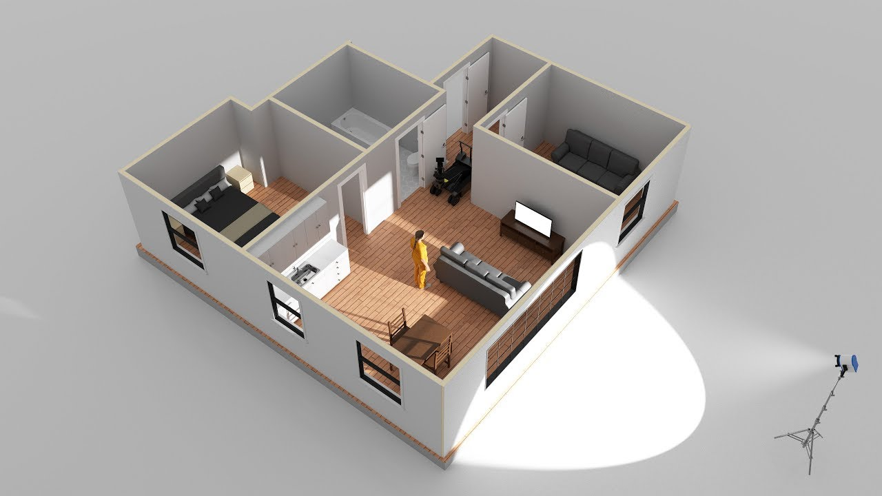 Room + House Building in Cinema 4D | Getting Started with Set Designer Part  1