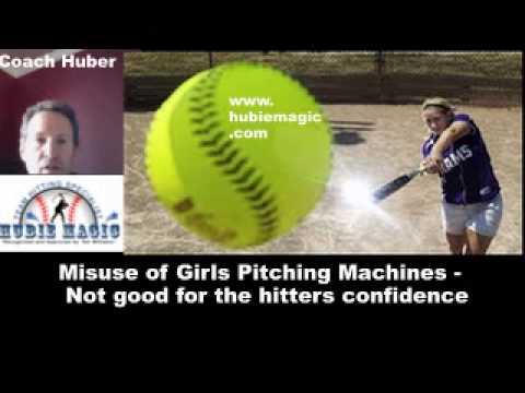 Pitching Machines do damage to Girls Softball Swings