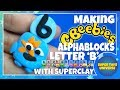 Making the Alphablocks Letter B with Super Clay