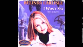 Belinda Carlisle  I WON'T SAY I'M IN LOVE   1997  HERCULES SOUNDTRACK