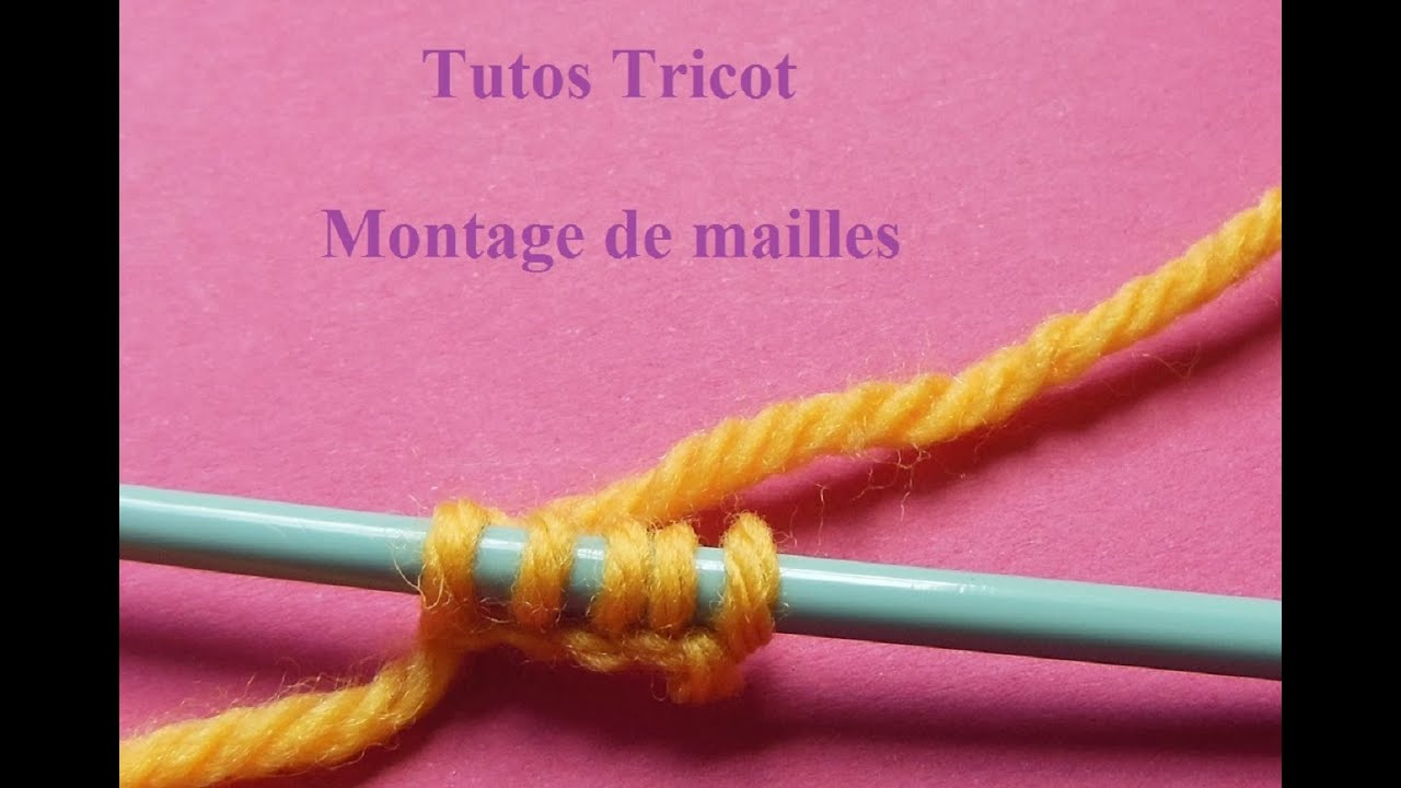 tuto tricot montage des mailles. Black Bedroom Furniture Sets. Home Design Ideas