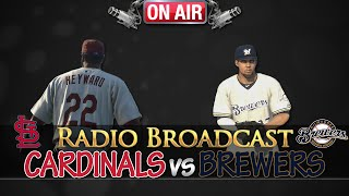 MLB 14 The Show: St. Louis Cardinals vs Milwaukee Brewers - Radio Broadcast
