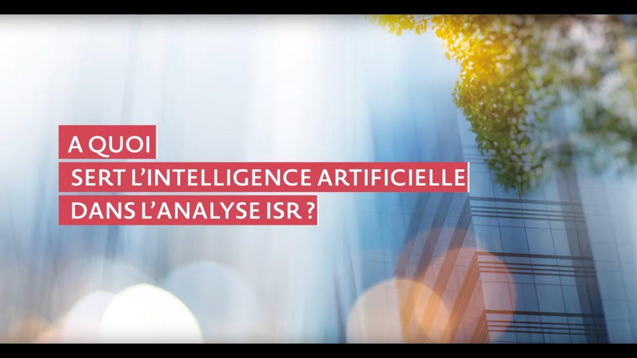 A quoi sert l'intelligence artificielle dans l'analyse ISR ?