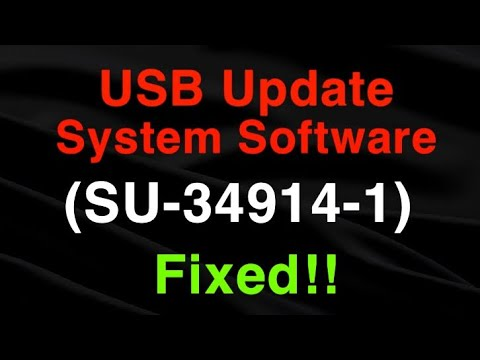 PS4 (SU-34914-1) Error Code System Software Update USB EASY FIX!!