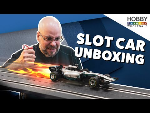 Unboxing the Carrera 1/43 Scale Slot Car Set at Hobby Wholesale