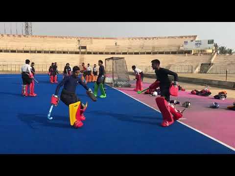 Hockey Goal Keeping Training Under Olympic Champion Goal Keeper Shahid Ali Khan